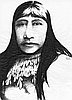 Sketch of Sarah Winnemucca by artist Dave Rock in 1977.