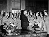 Charles Sprague with members of the Women's Ambulance Corps, 1941.
