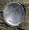 Survey marker for the Willamette Meridian at Willamette Stone State Park, Washington and Multnomah Counties.