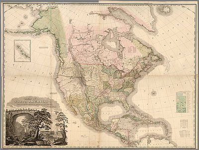 Map Of America Oregon.Tanner Map Of 1822