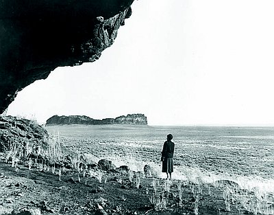 Fort Rock Cave opening, 1966