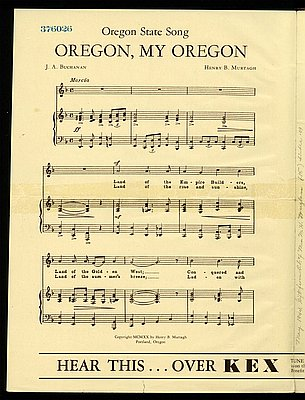 Oregon, My Oregon (state song)