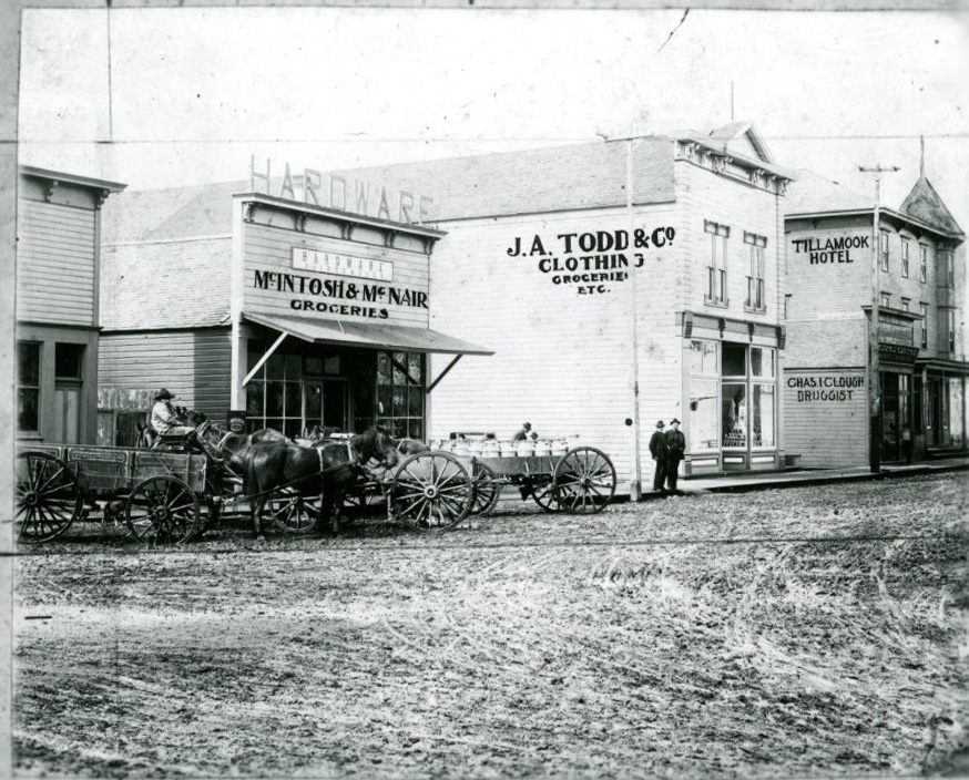 Downtown Tillamook, 1899