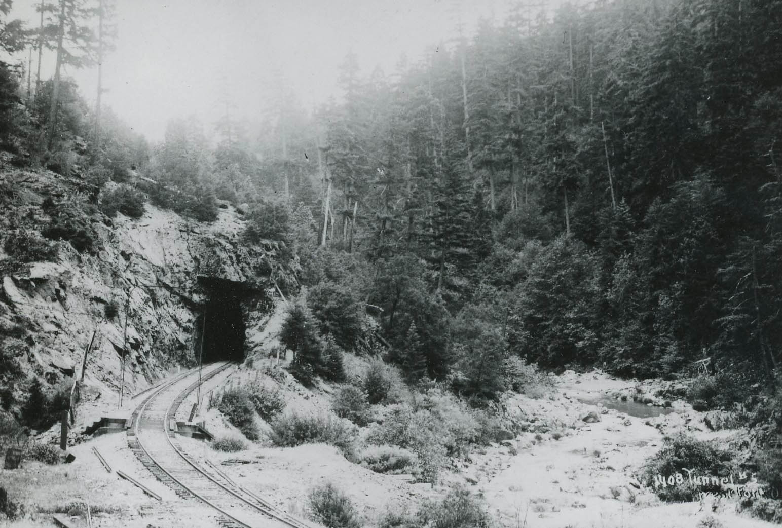 Tunnel 5 on the SP railroad near West Fork over Cow Creek