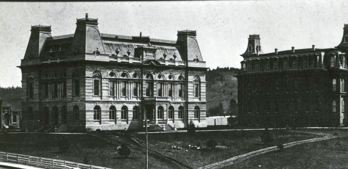 Villard Hall (left), University of Oregon, Eugene, 1888
