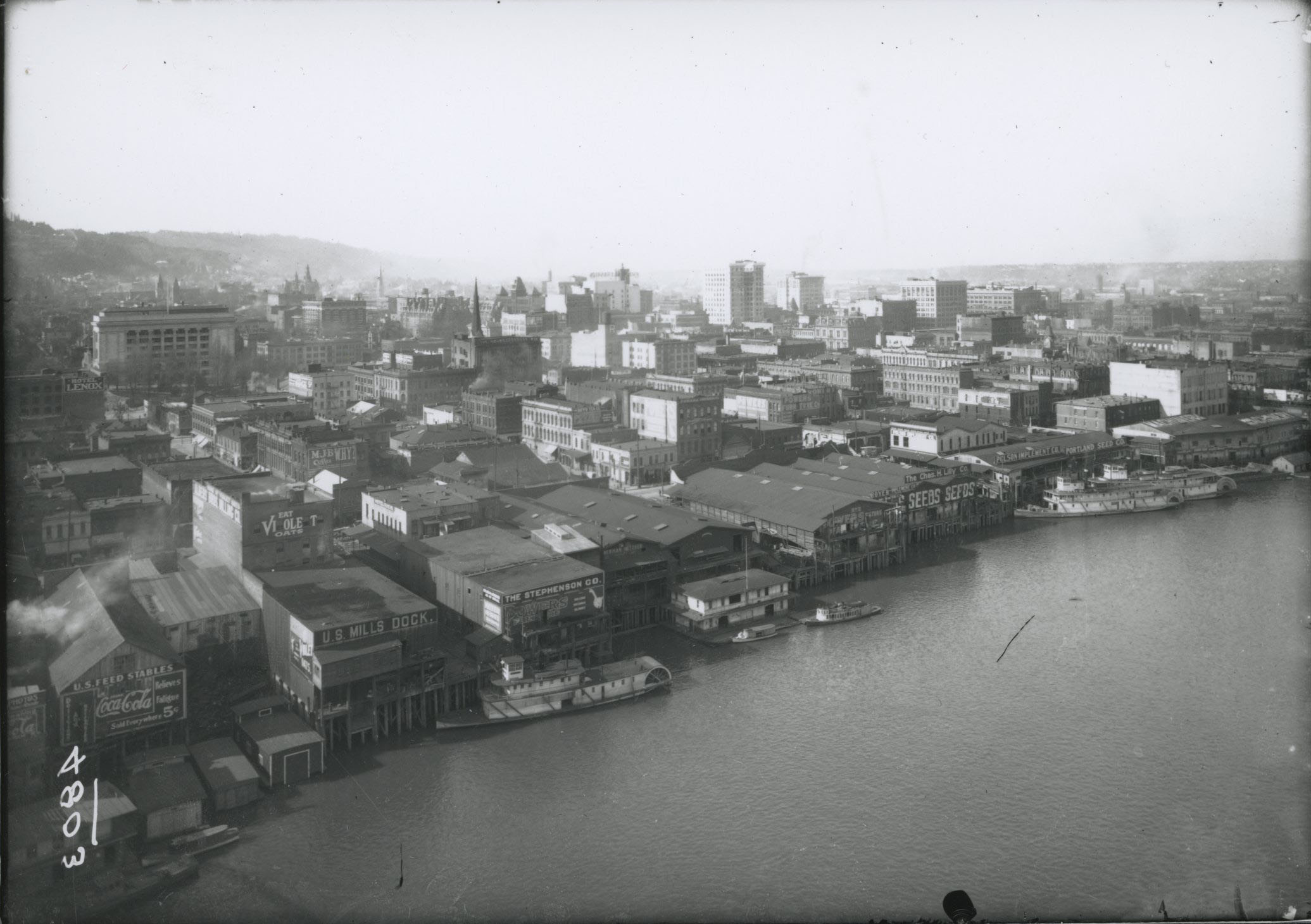 Portland waterfront, west side of Willamette, c.1900